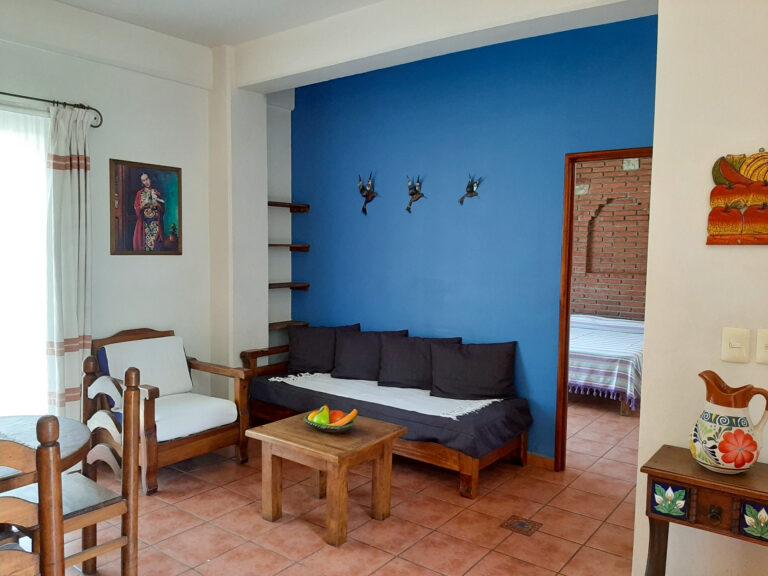 Al Sol Oaxaca Apartment 10 Living Room