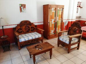 Al Sol Oaxaca Apartment 12 living room